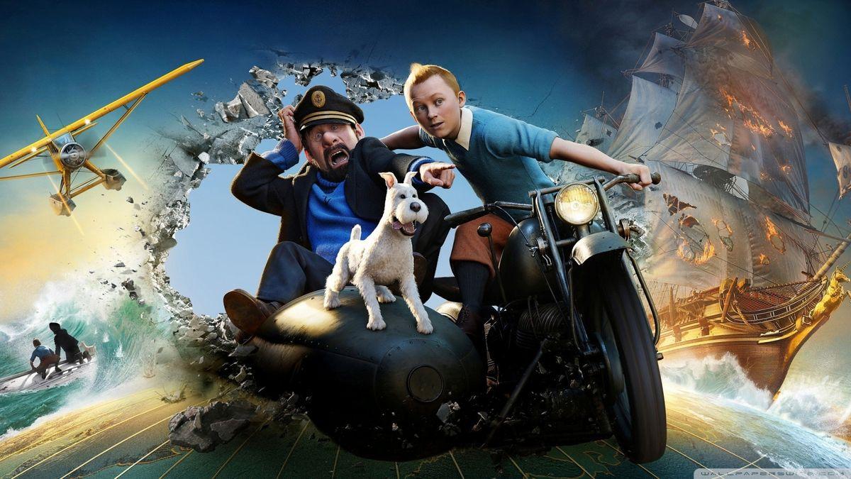 Tintin i Haddock, en pantalla gran